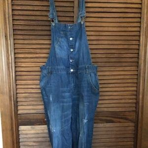 Forever 21 Faded Overalls